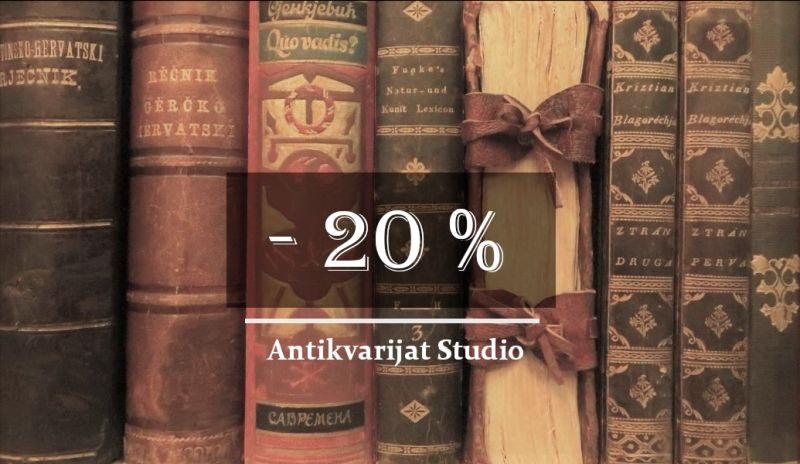 Antikvarijat Studio – 20 % popusta za vrijeme trajanja Interlibera!