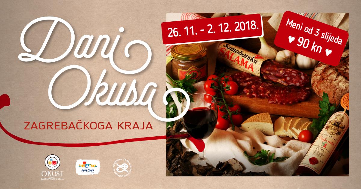 Dani Okusa zagrebačkoga kraja – uživajte u specijalitetima po promotivnoj cijeni od 90 kuna!